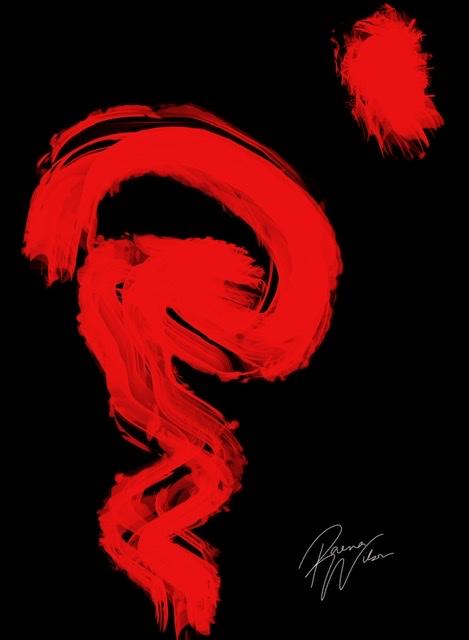 Red Dragon Rising, Digital Art by Raena Wilson