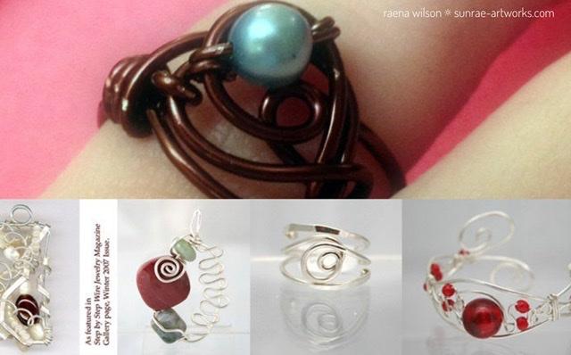 Wire Art Jewelry by Raena Wilson