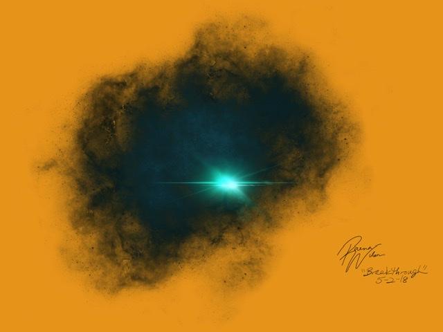 Breakthrough, Digital Art by Raena Wilson