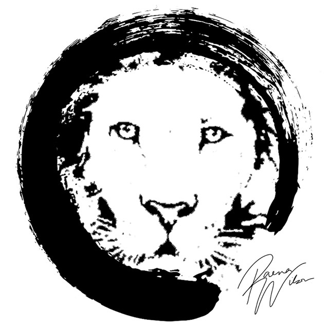 Enzo Lion, Digital Art by Raena Wilson